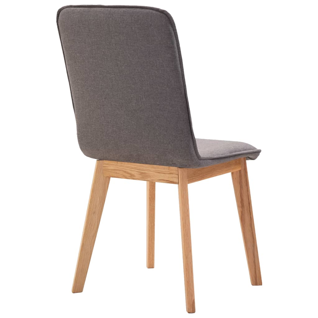 Dining Chairs 4 pcs Taupe Fabric 7