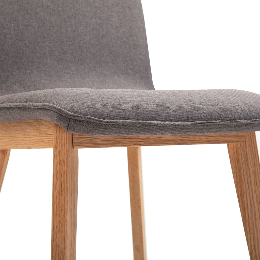 Dining Chairs 4 pcs Taupe Fabric 8