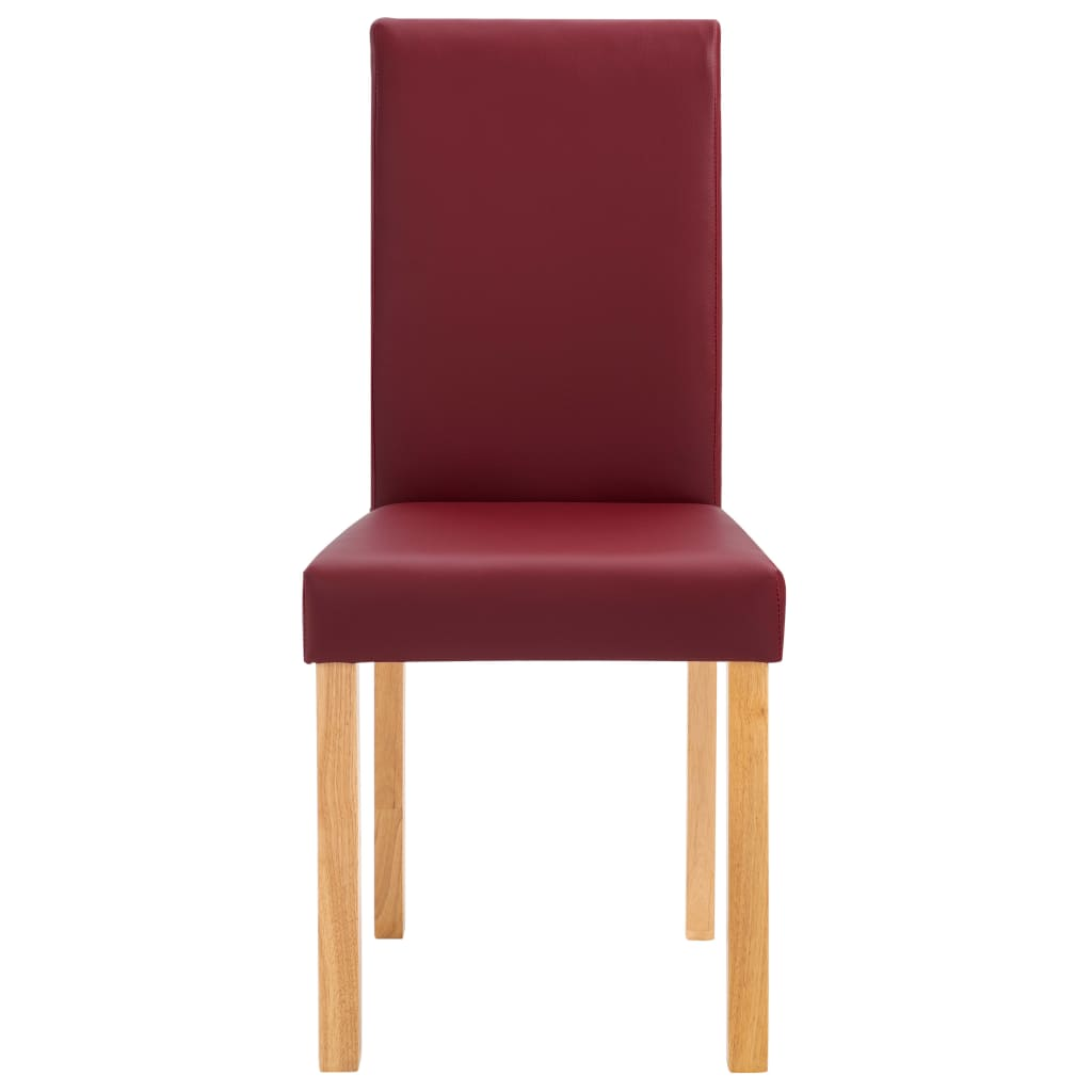 Dining Chairs 4 pcs Red Faux Leather 4