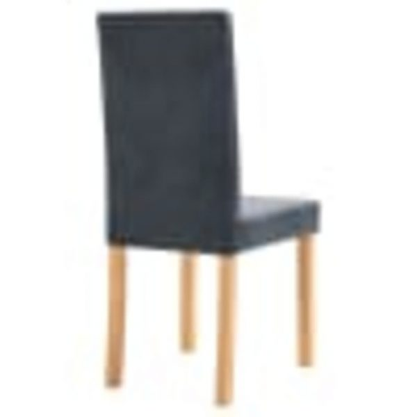 Dining Chairs 2 pcs Grey Faux Suede Leather 6