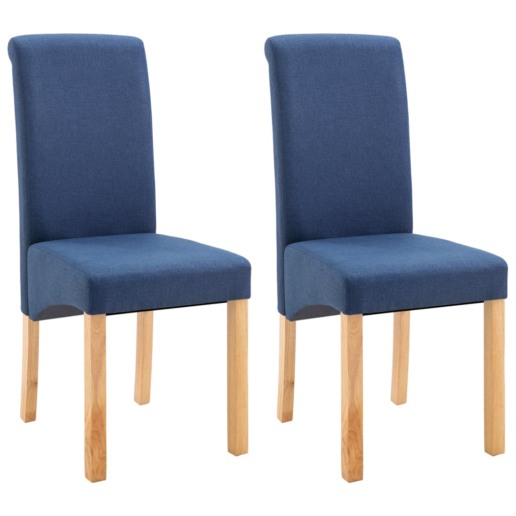 Dining Chairs 2 pcs Blue Fabric 2