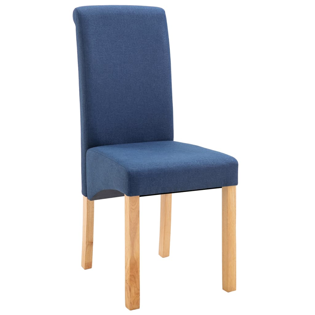 Dining Chairs 2 pcs Blue Fabric 3