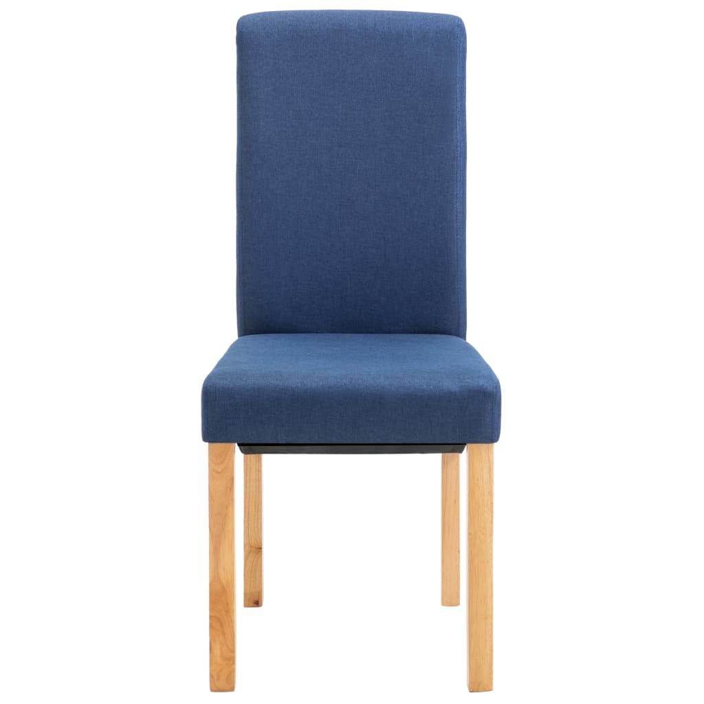 Dining Chairs 2 pcs Blue Fabric 4