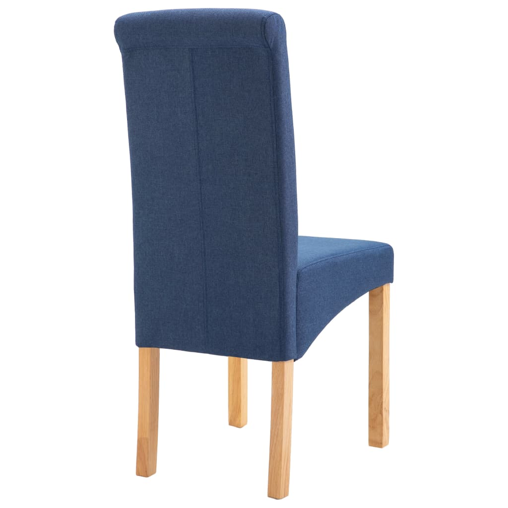 Dining Chairs 2 pcs Blue Fabric 6