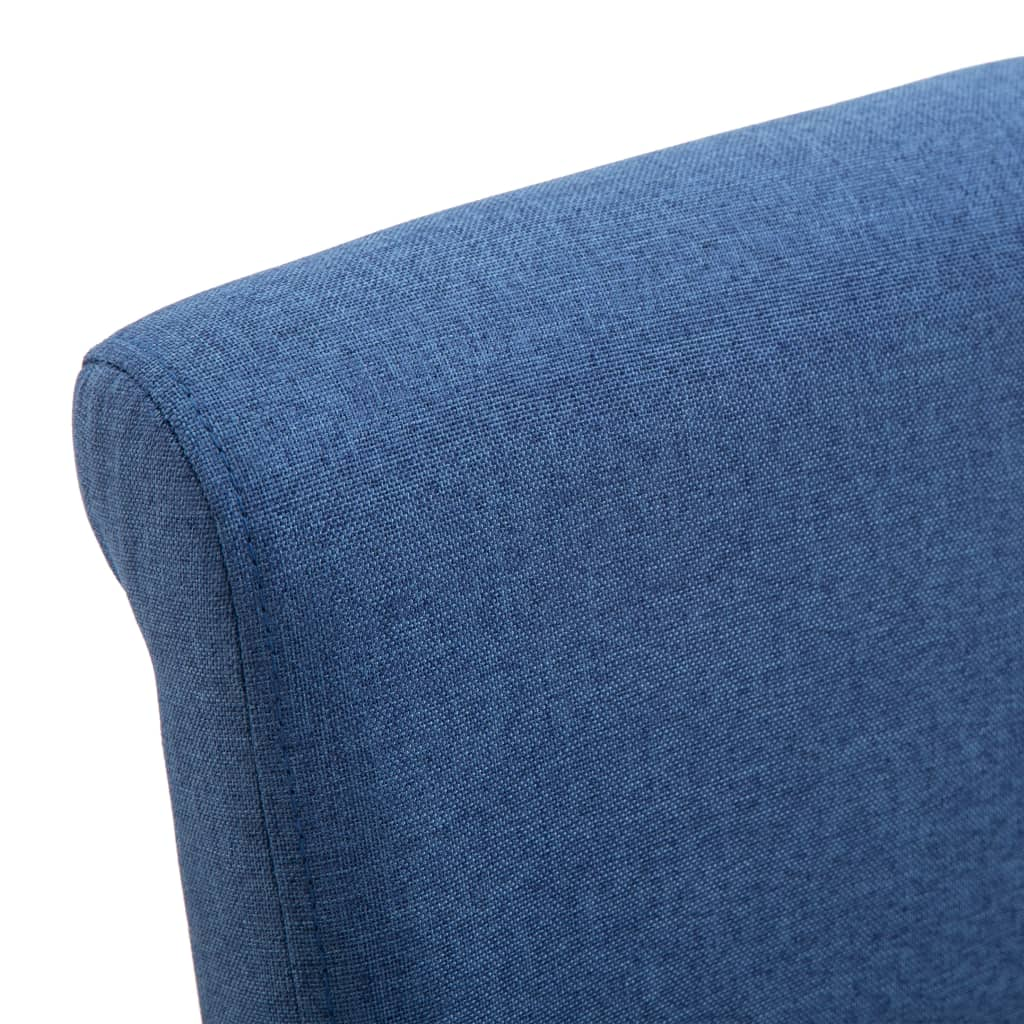 Dining Chairs 2 pcs Blue Fabric 7