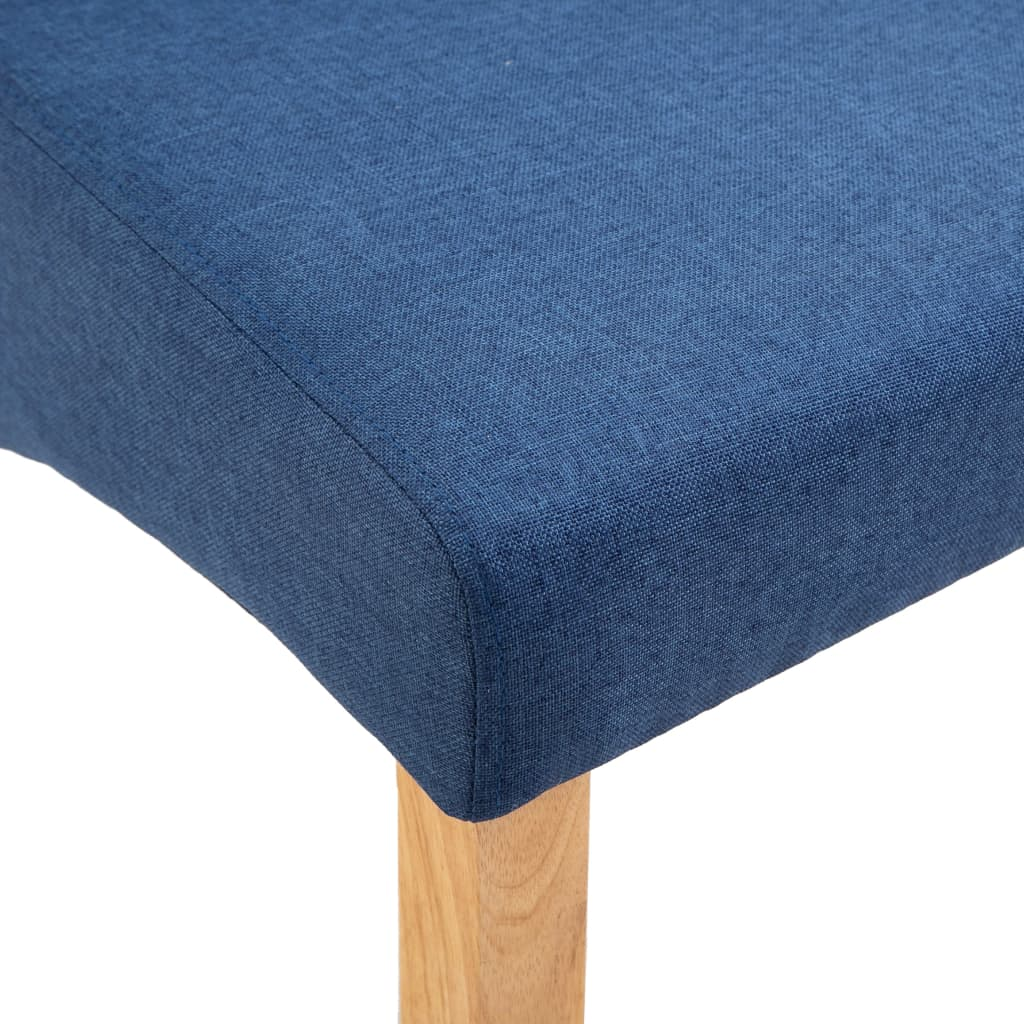 Dining Chairs 2 pcs Blue Fabric 8