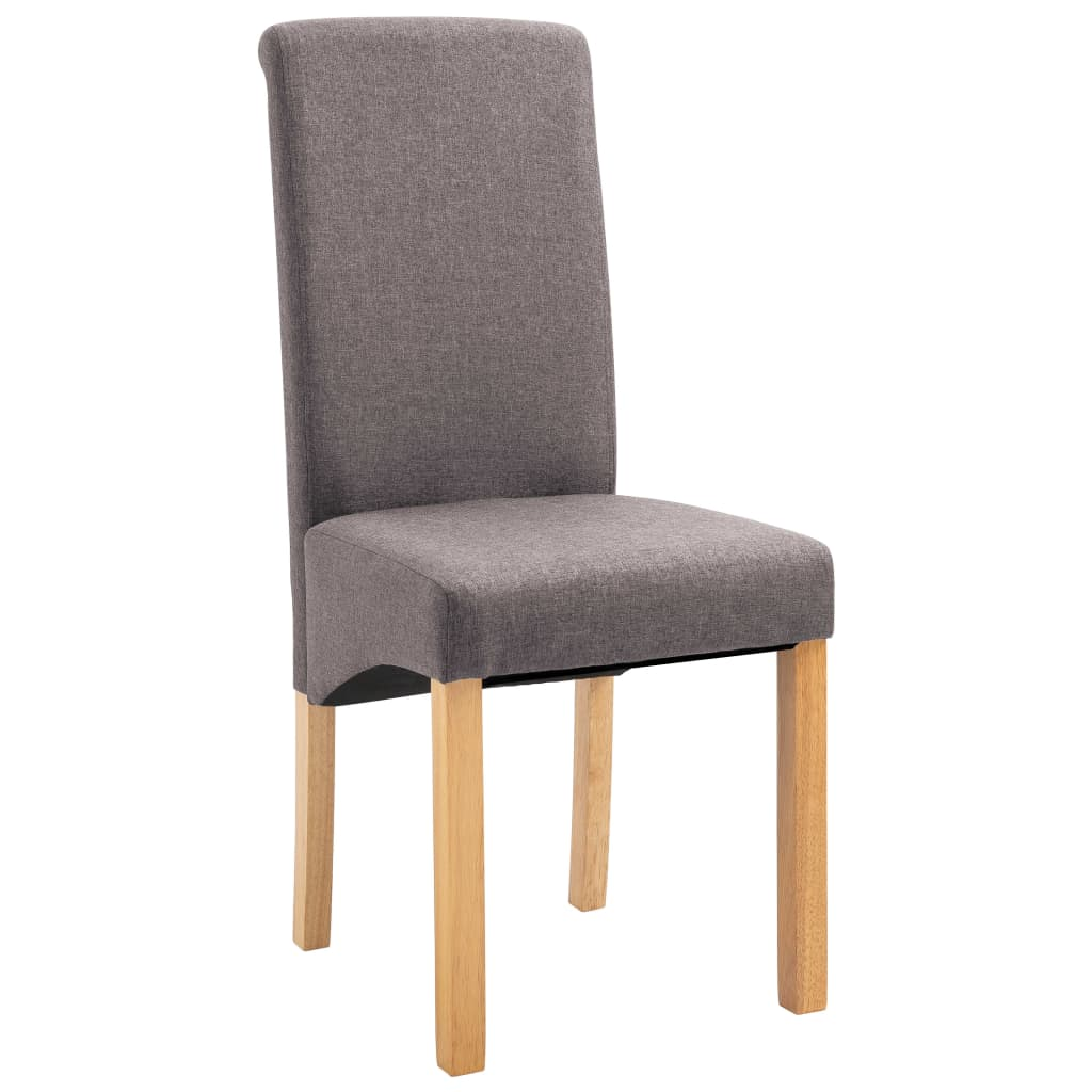 Dining Chairs 2 pcs Taupe Fabric 3