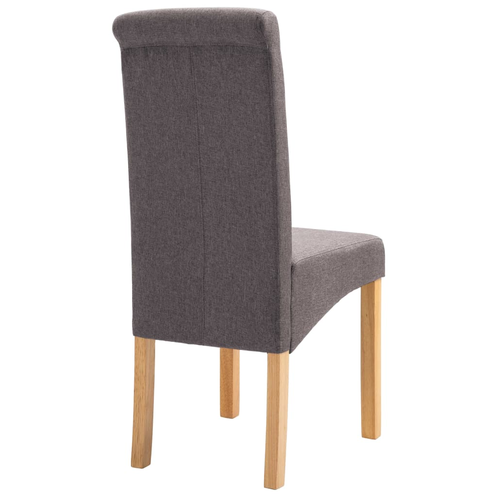 Dining Chairs 2 pcs Taupe Fabric 6