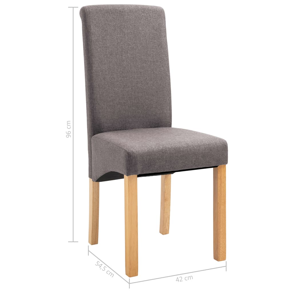 Dining Chairs 2 pcs Taupe Fabric 9