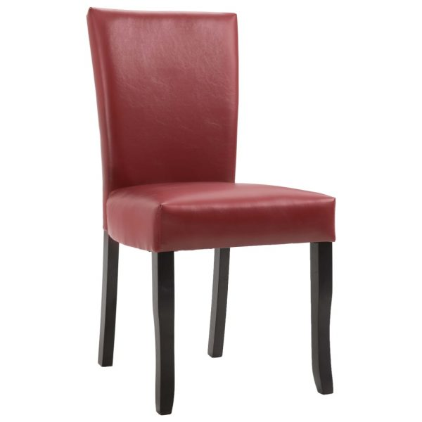 Dining Chairs 2 pcs Wine Red Faux Leather 8