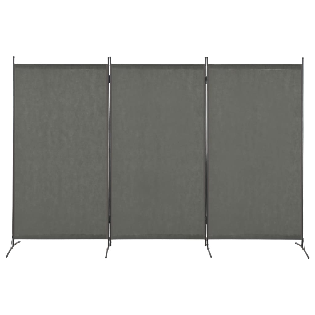 280269 3-Panel Room Divider Anthracite 260x180 cm