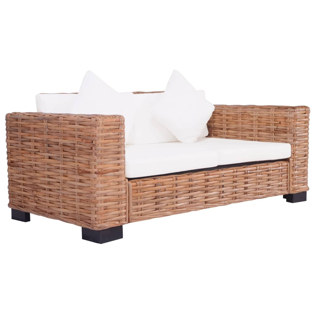 2-Seater Garden Sofa Natural Rattan 1