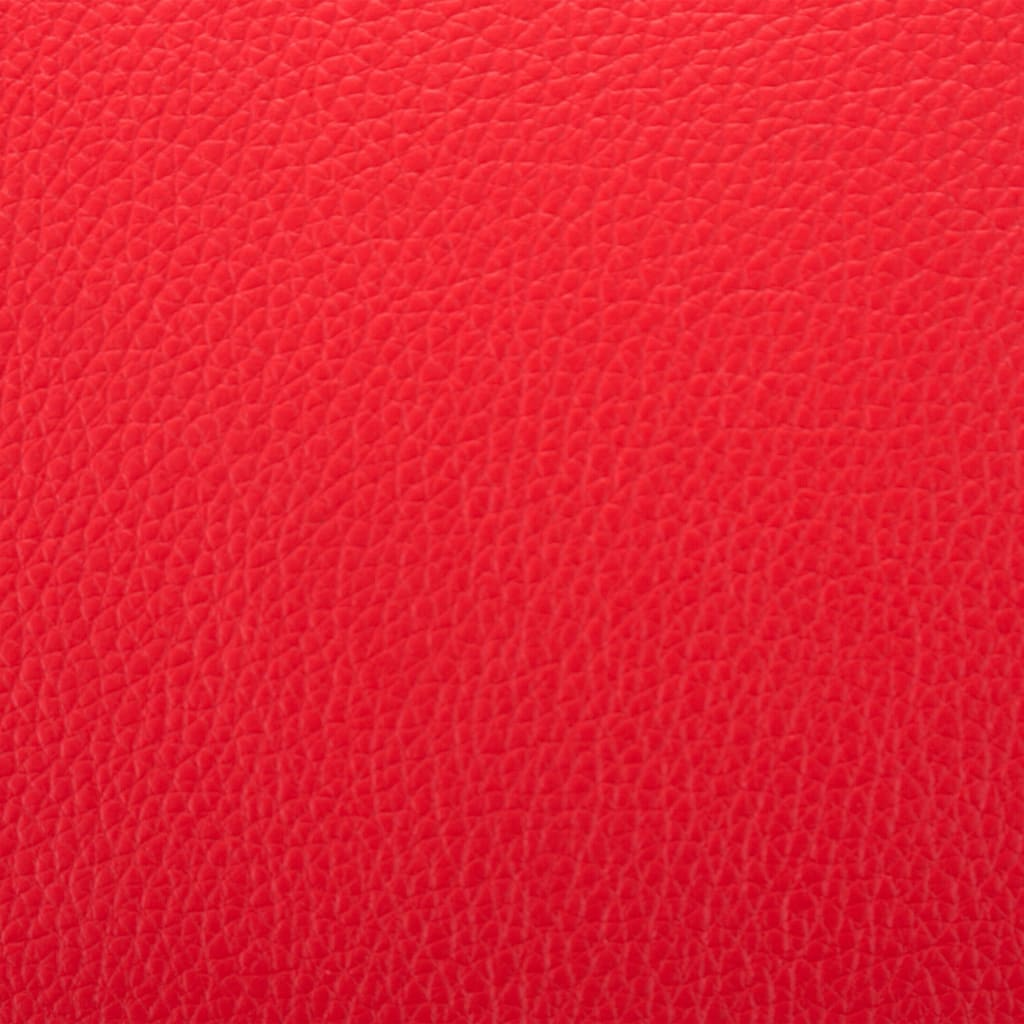 TV Armchair Red Faux Leather 3