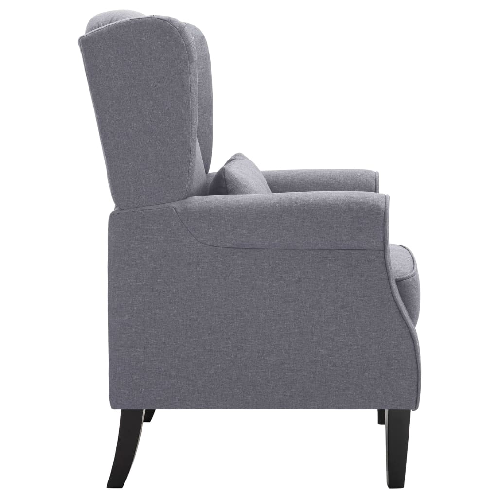 Armchair Dark Grey Fabric 5