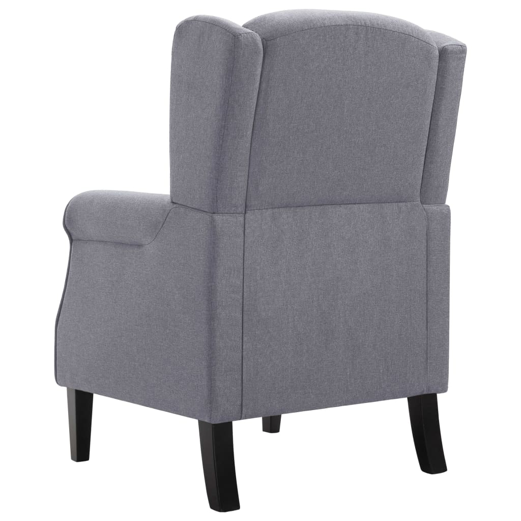 Armchair Dark Grey Fabric 6