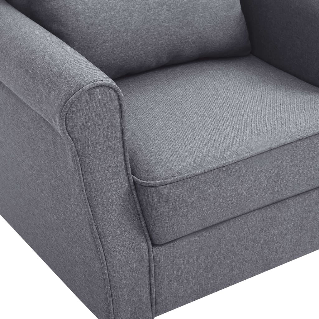 Armchair Dark Grey Fabric 7