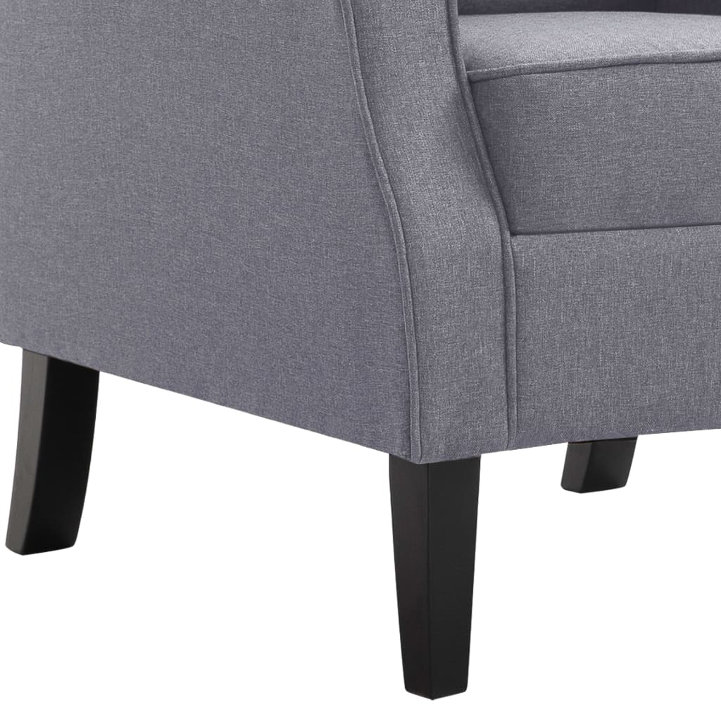 Armchair Dark Grey Fabric 8