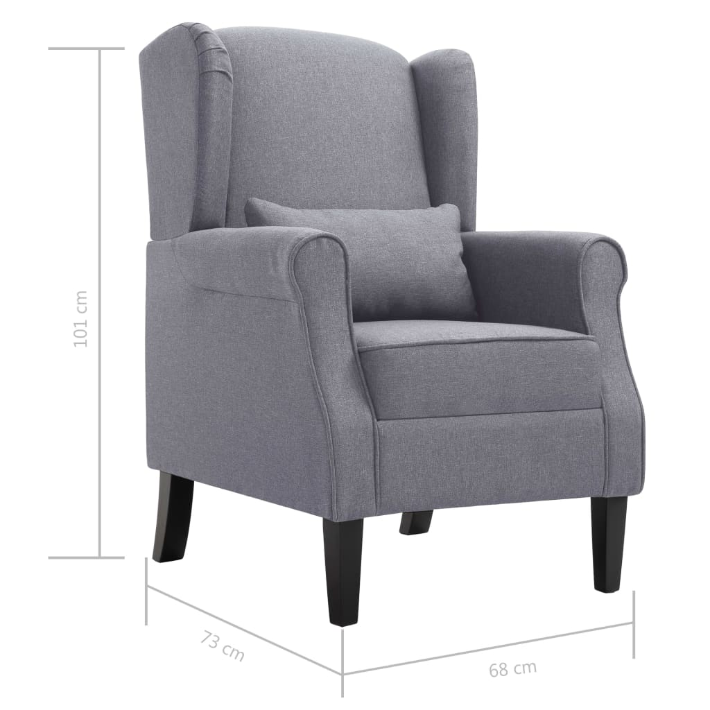 Armchair Dark Grey Fabric 9