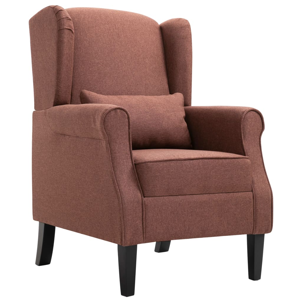 Armchair Brown Fabric