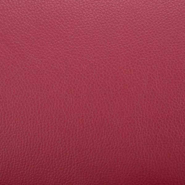 Armchair with Footrest Wine Red Faux Leather 3