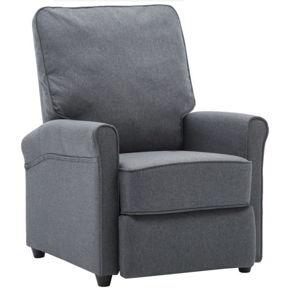 TV Recliner Chair Dark Grey Fabric 2