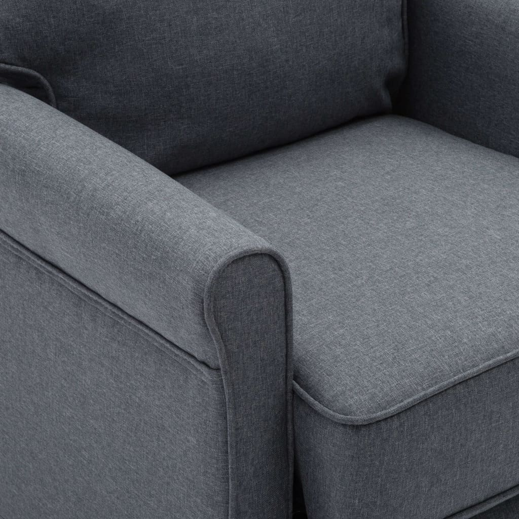 TV Recliner Chair Dark Grey Fabric 3