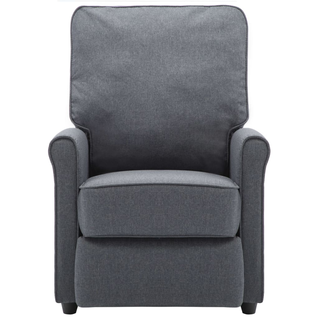 TV Recliner Chair Dark Grey Fabric 5