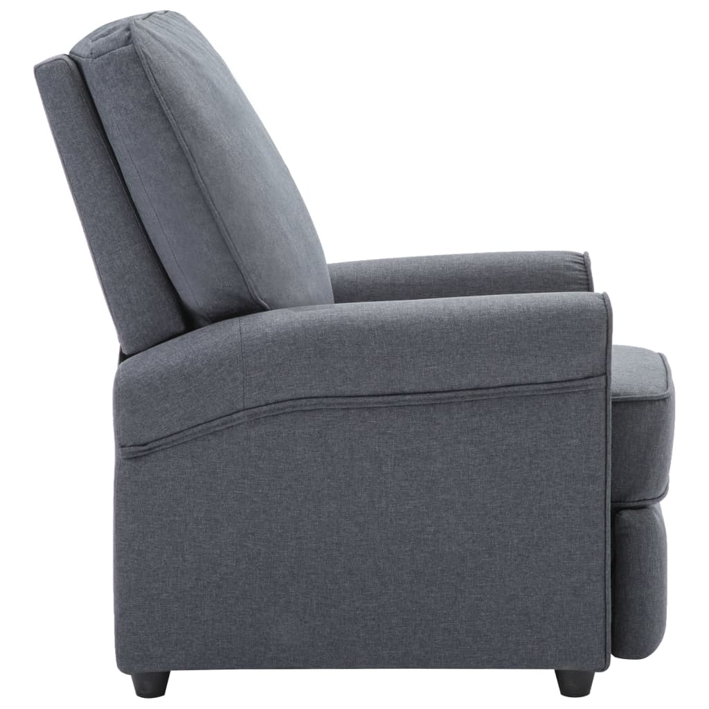 TV Recliner Chair Dark Grey Fabric 6