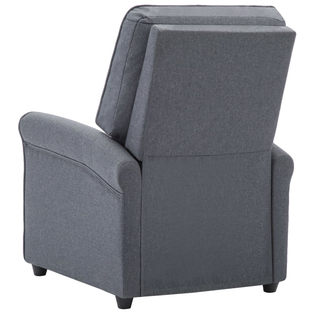 TV Recliner Chair Dark Grey Fabric 7