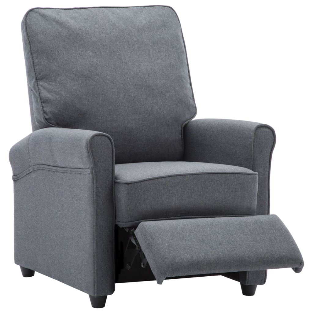 TV Recliner Chair Dark Grey Fabric 8