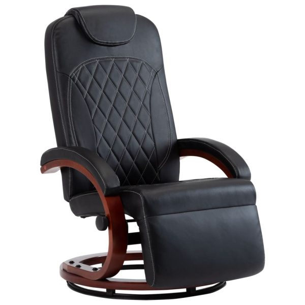 TV Recliner Black Faux Leather 2