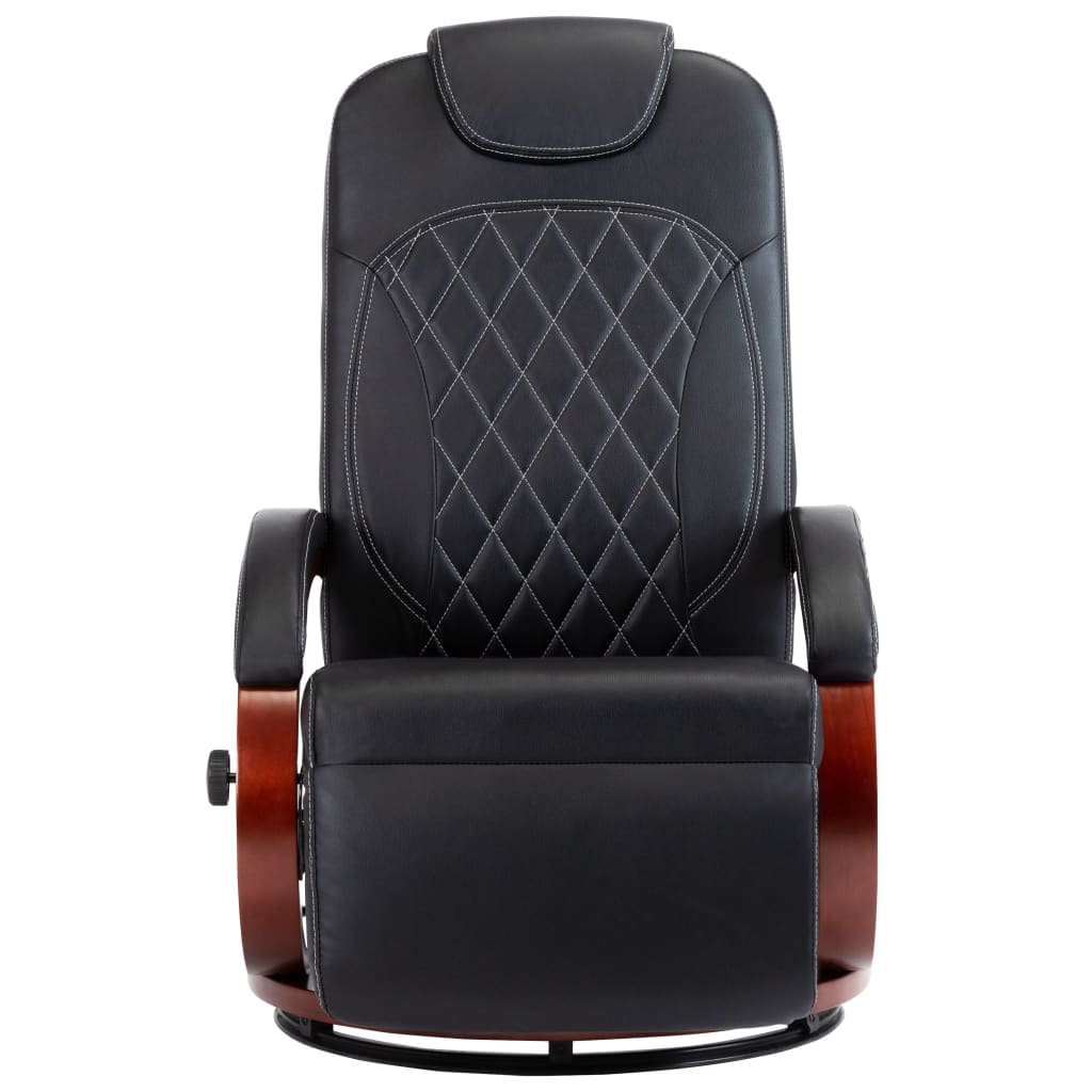 TV Recliner Black Faux Leather 3