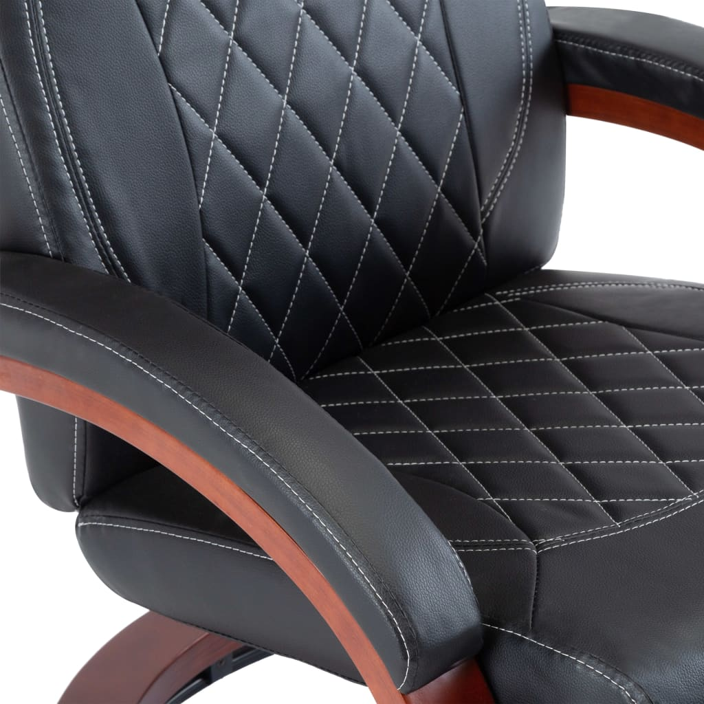 TV Recliner Black Faux Leather 7