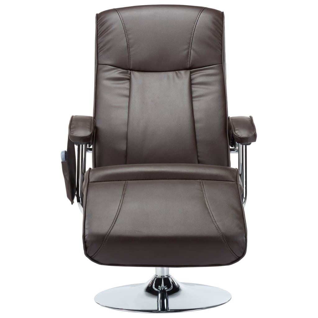 Massage Chair Cream Brown Faux Leather 6