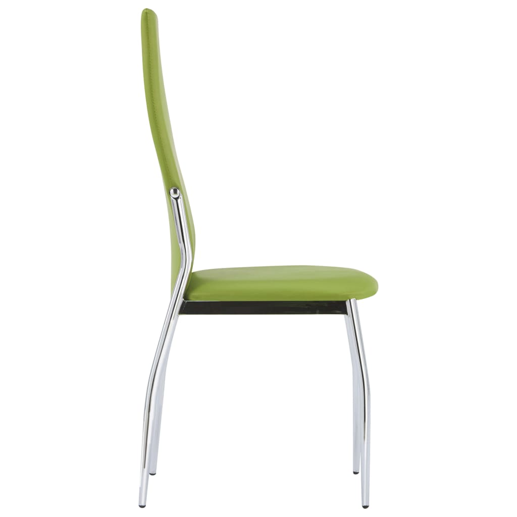 Dining Chairs 4 pcs Green Faux Leather 4