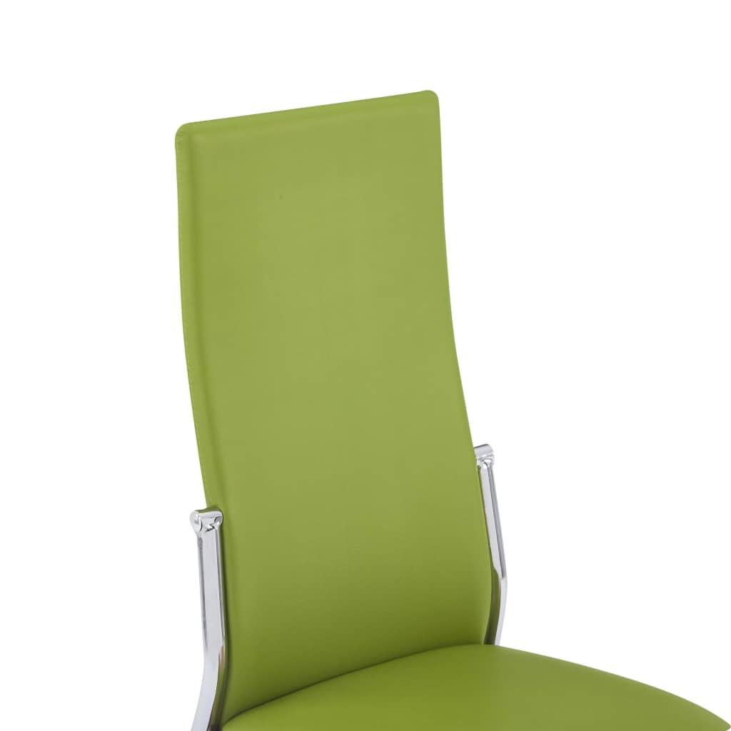 Dining Chairs 4 pcs Green Faux Leather 7