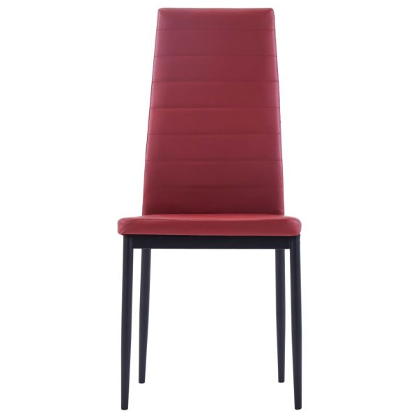 Five Piece Dining Set Wine Red 8