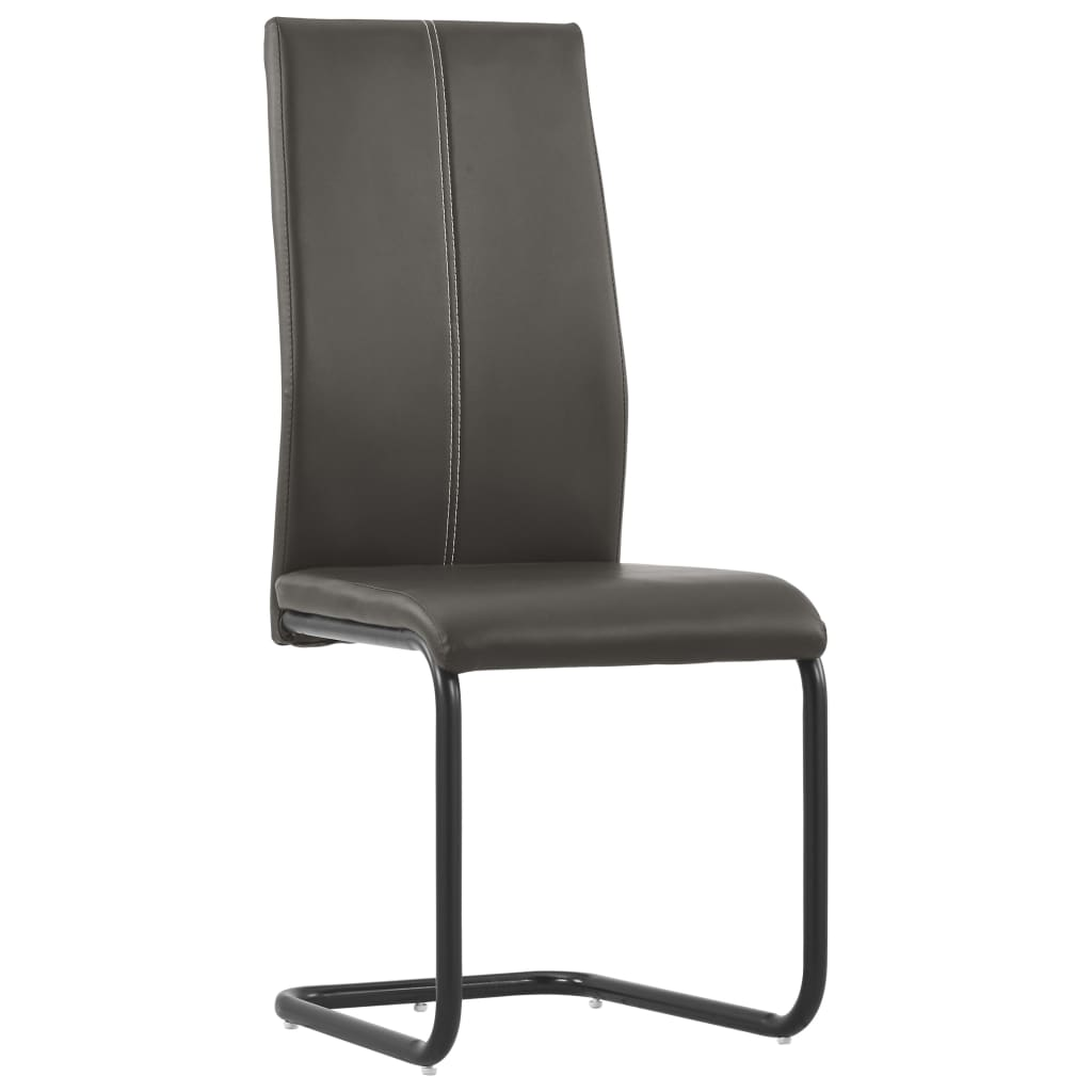 Dining Chairs 4 pcs Brown Faux Leather 2