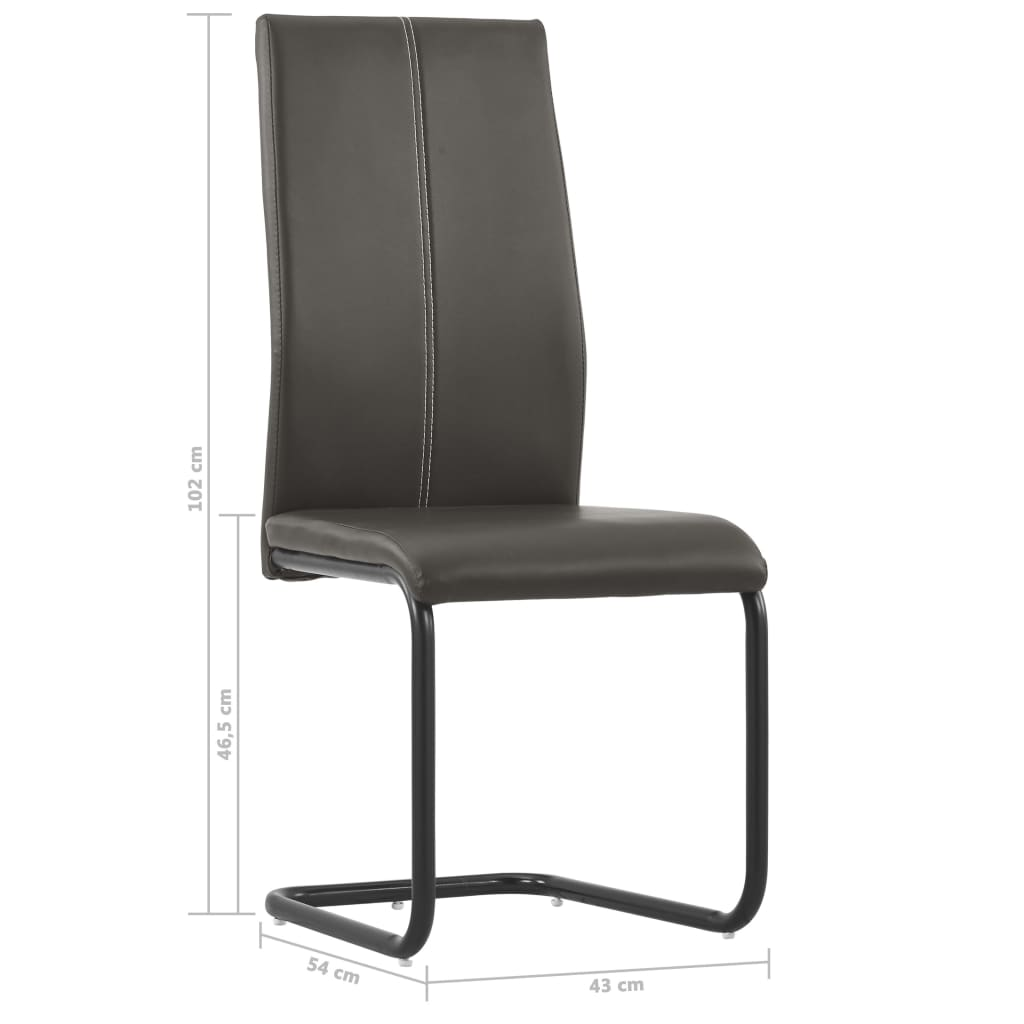 Dining Chairs 4 pcs Brown Faux Leather 8