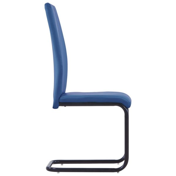 Dining Chairs 4 pcs Blue Faux Leather 4