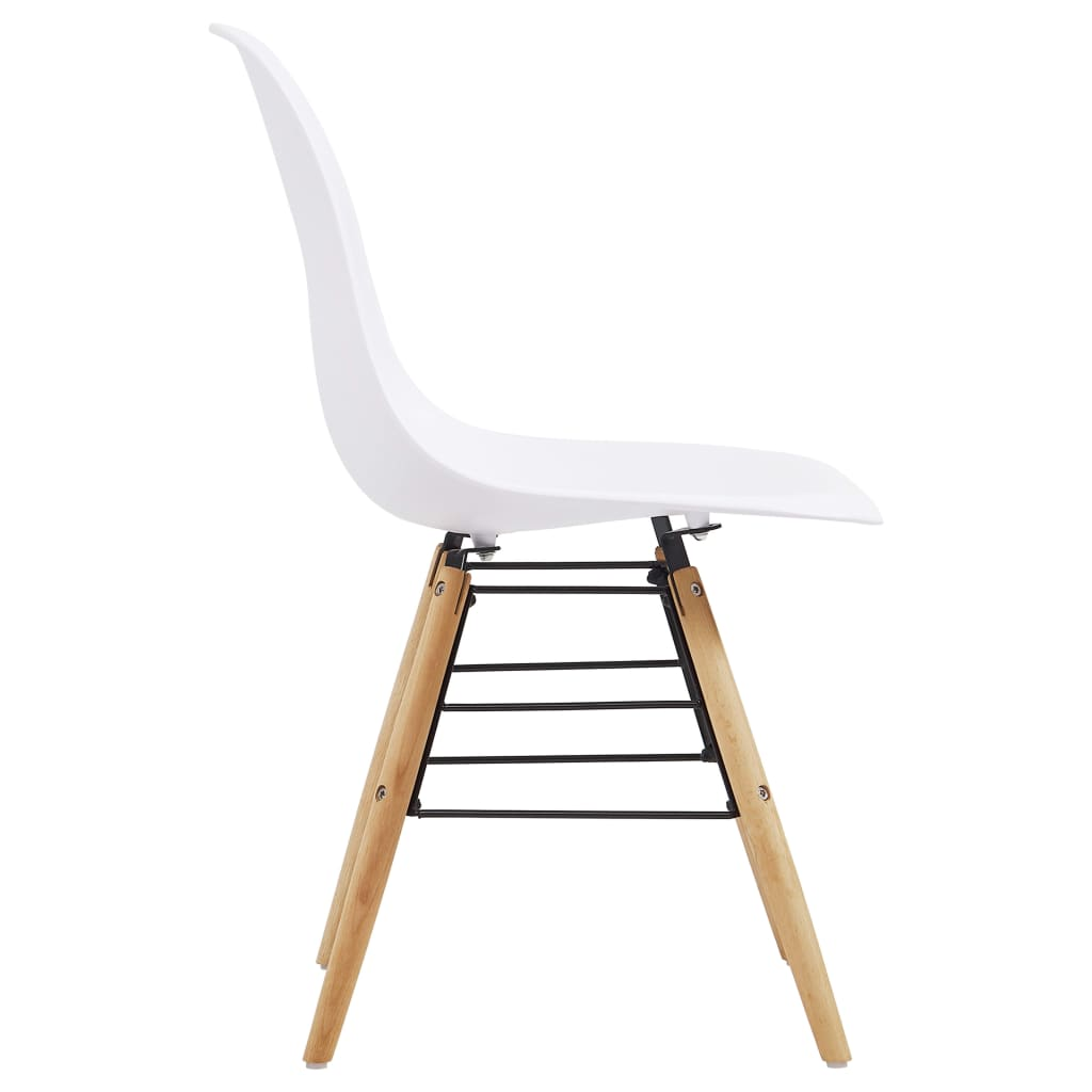 Dining Chairs 2 pcs White Plastic 4