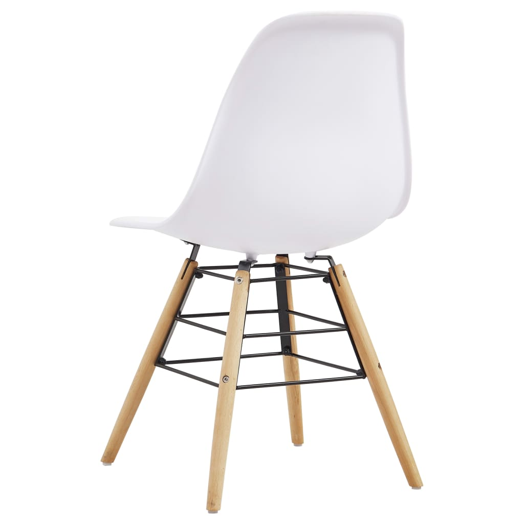 Dining Chairs 2 pcs White Plastic 5