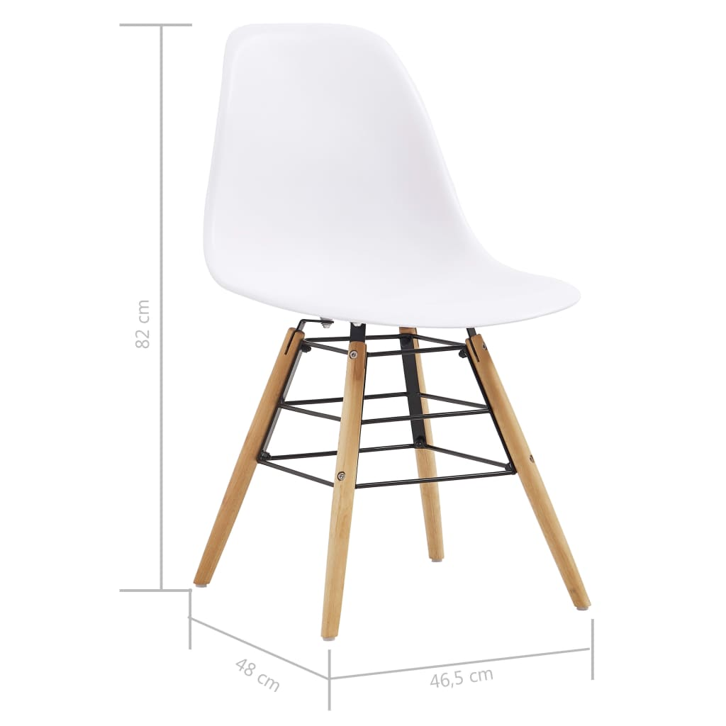 Dining Chairs 2 pcs White Plastic 7