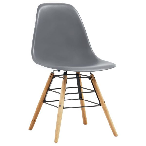 Dining Chairs 2 pcs Grey Plastic 2