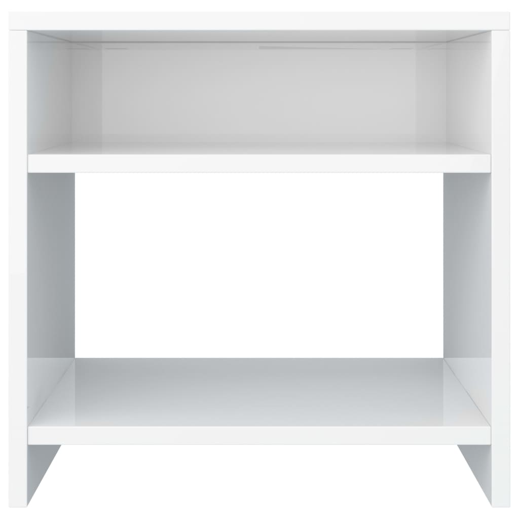 Bedside Cabinet High Gloss White 40x30x40 cm Chipboard 4
