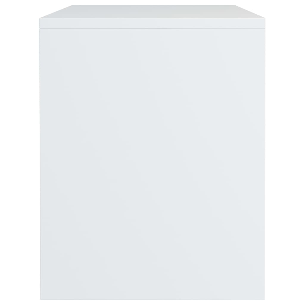 Bedside Cabinet High Gloss White 40x30x40 cm Chipboard 5