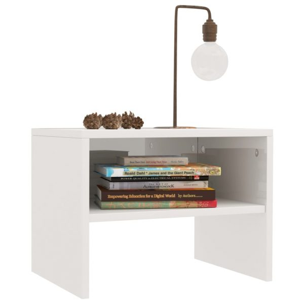 Bedside Cabinets 2 pcs High Gloss White 40x30x30 cm Chipboard 3