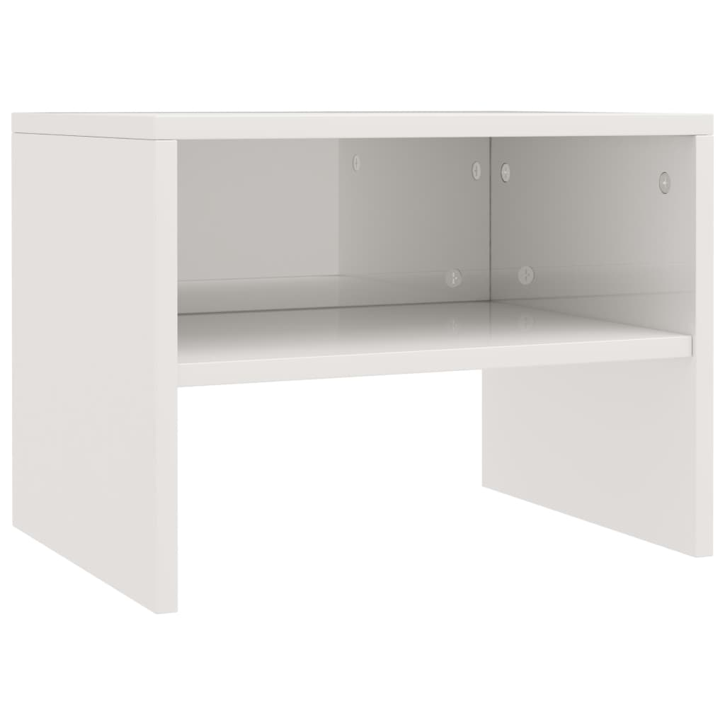Bedside Cabinets 2 pcs High Gloss White 40x30x30 cm Chipboard 4