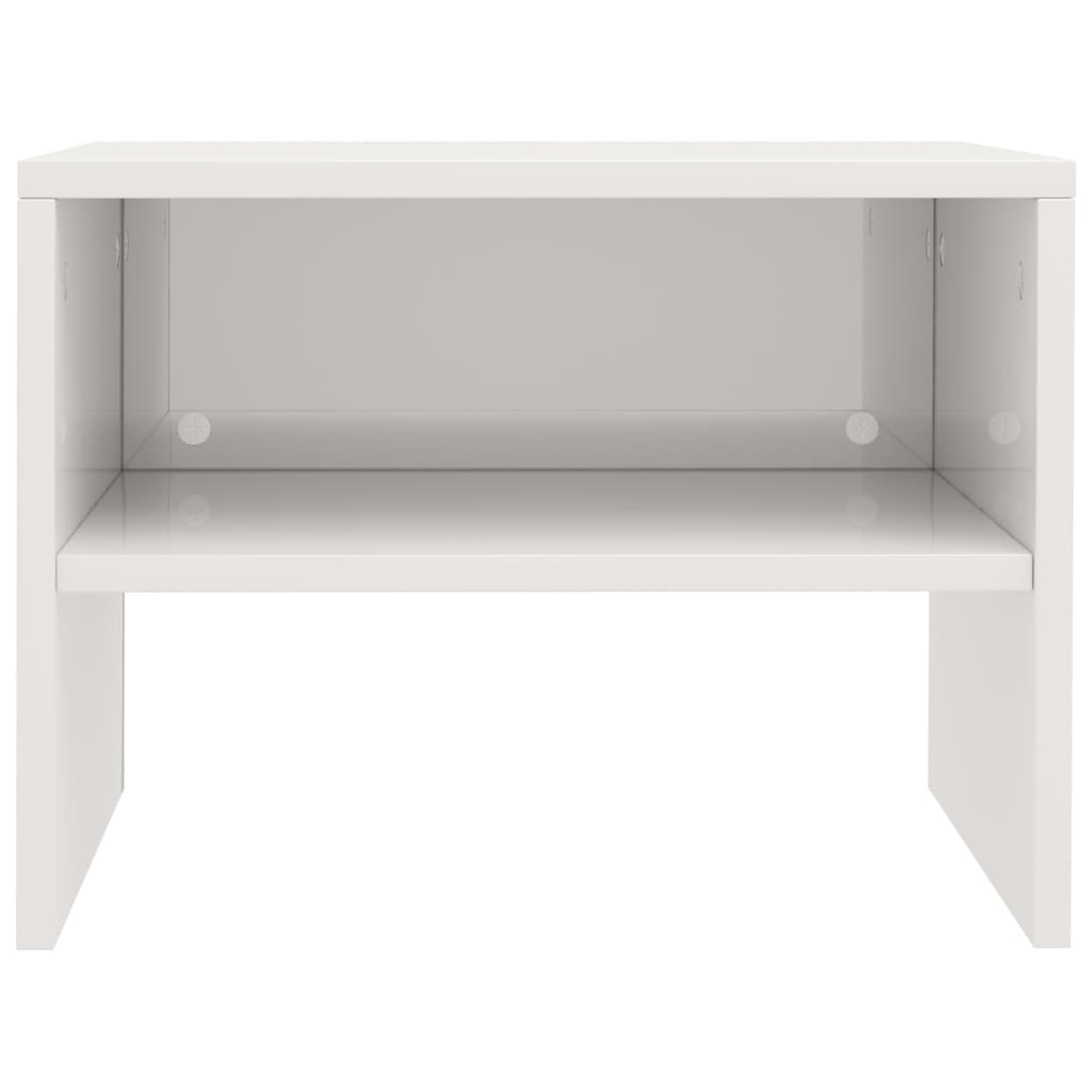 Bedside Cabinets 2 pcs High Gloss White 40x30x30 cm Chipboard 5