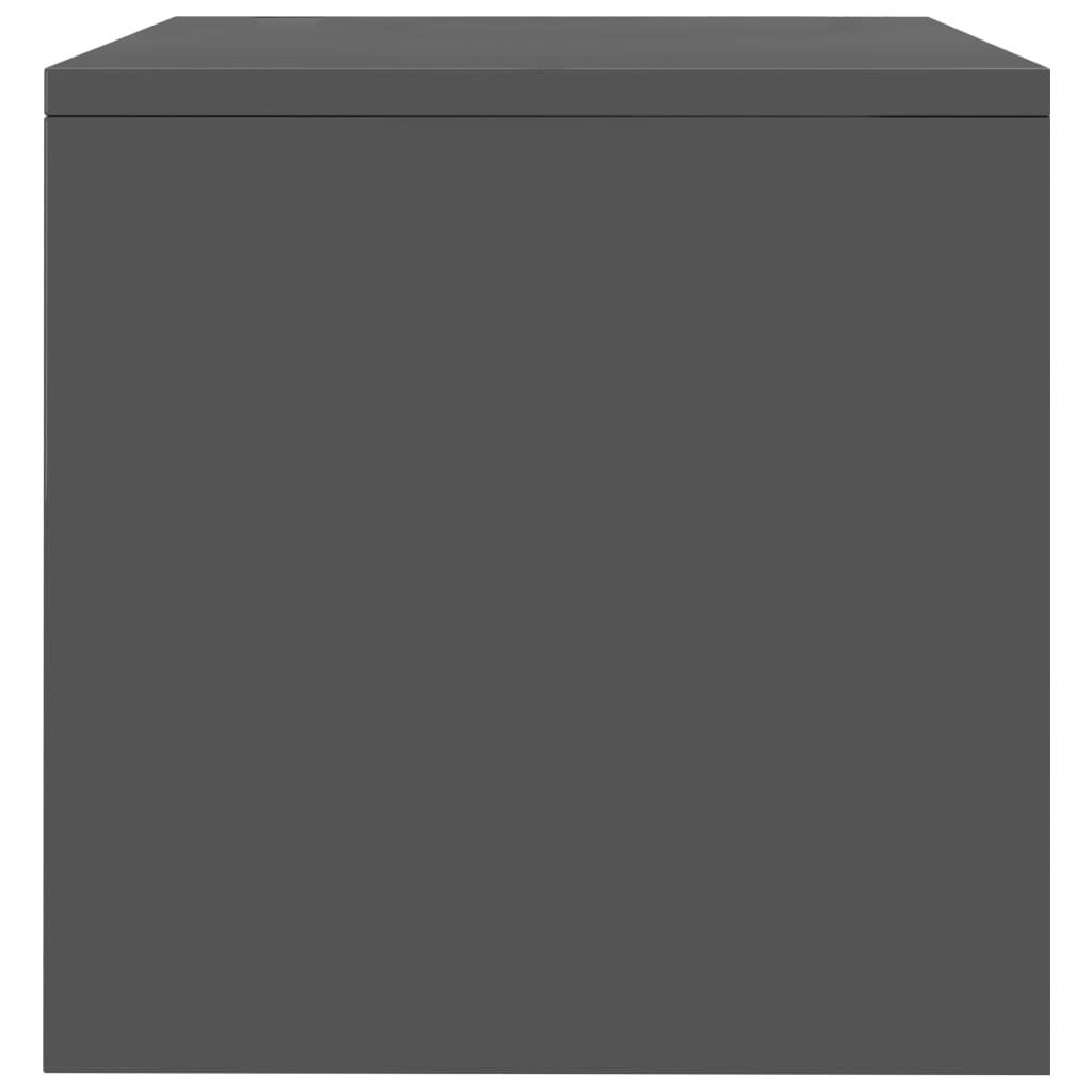 Bedside Cabinet High Gloss Grey 40x30x30 cm Chipboard 5